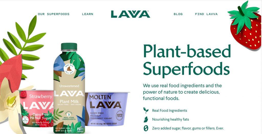lavva homepage screenshot