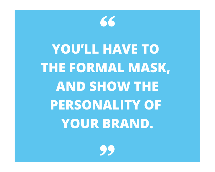 personality of the brand